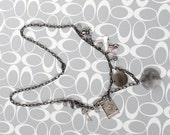 Toil and Trouble Charm Necklace - Cloudy Quartz