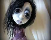 Loopy Southern Gothic Art Doll Victorian Dark Goth Violet