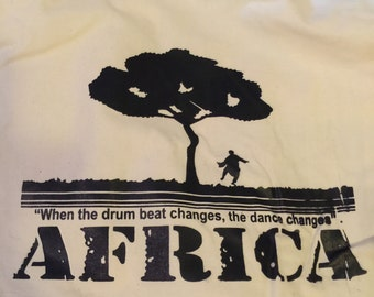 African Backpack, Africa, drum, dance, screen print