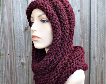 Instant Download Knitting Pattern - Knit Hat Knitting Pattern - Knit Hat Pattern Gretel Wrap Hood Pattern - Womens Hat - Womens