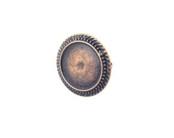 20mm bezel rings, brass plated, pick your amount, A200