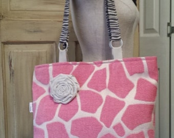 Large Upholstery Tote Purse