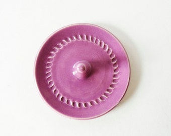 Ring Dish,  Ring Bowl, Wheel Thrown Pottery, Violet Pink, Radiant Orchid