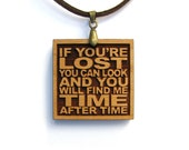 CYNDI LAUPER - Lyric Necklace - If You're Lost You Can Look At You Will Find Me Time After Time - Custom Lyric Available - Best Friend Gift