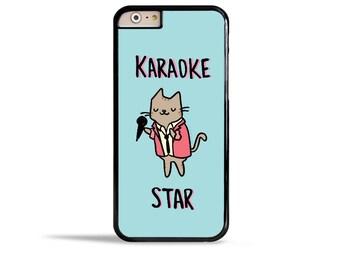 Cute iPhone 6s Case Karaoke Star 80s Music Lover Gift Ideas Cute Cat Samsung Galaxy S7 Case iPhone 7 Case