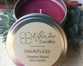 Dragon's Blood DAUNTLESS Soy Container Candle
