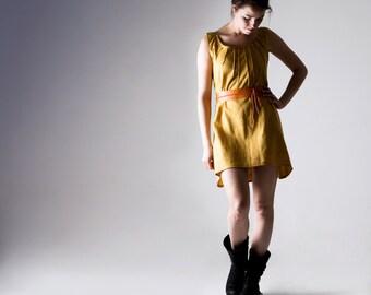 Yellow dress, Linen dress, Linen tunic, Short dress, Summer dress, Tunic dress, Day dress, Sundress, Short dress, Women clothing, Plus size