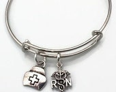 Adjustable Expandable Nurse Gift Charm Bracelet