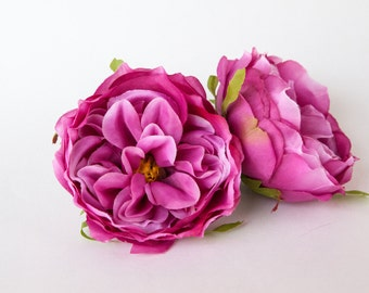 Blooming Peony in Raspberry Fuchsia Pink - 3 inches - Artificial Flower - ITEM 0844
