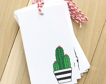 Cactus Tags - Set of 12