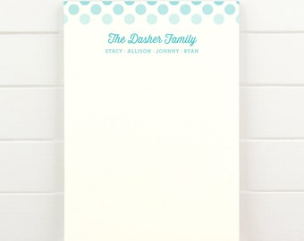ORBIT Family Personalized Notepad - Custom Letterhead Families Kids Parents School Note