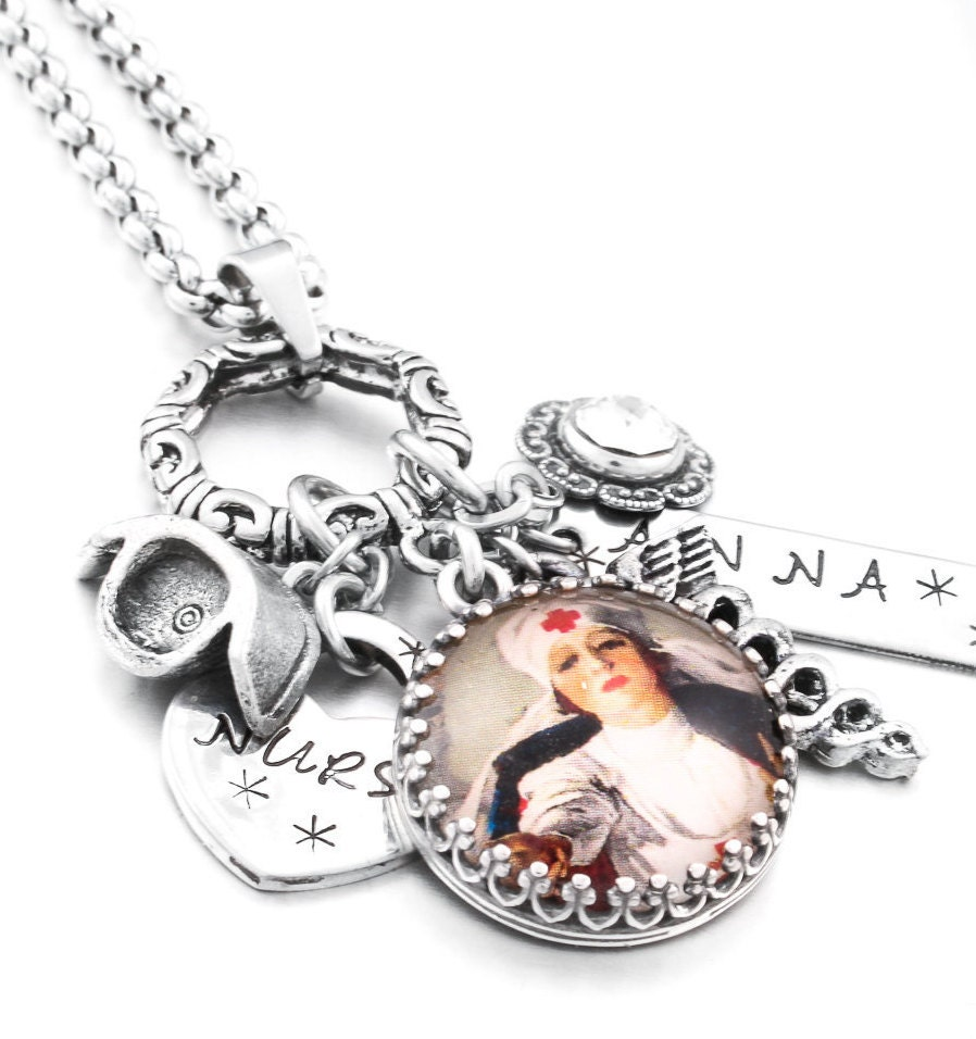 nurse jewelry nurse necklace rn jewelry lpn by