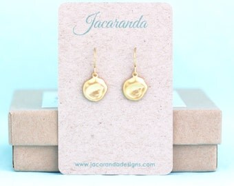 Dainty Gold Earrings - Tiny Earrings - Small Earrings - Golden Earrings - Gift For Woman - Sweet Jewelry - Lightweight Jewelry