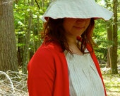 RESERVED for theshydesigner: reversible sun bonnet -- made to order