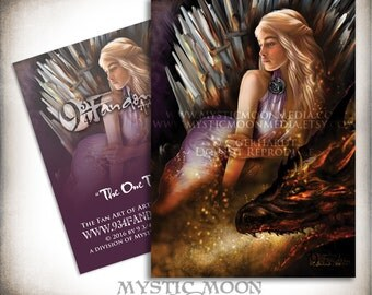 The One True... ACEO / ATC... Mother of Dragons Inspired Collectors Card.. Inspired by The Game of Thrones... Daenerys Targaryen