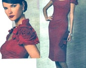 Designer Belleville Sassoon dress Wedding party Mother of the Bride cocktail party sewing pattern Vogue 1162 Sz 14 to 20 UNCUT