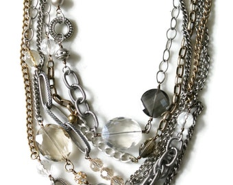 Chain and beaded necklace