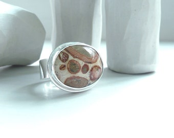 Leopard Ryolite Sterling Silver Oval Stone