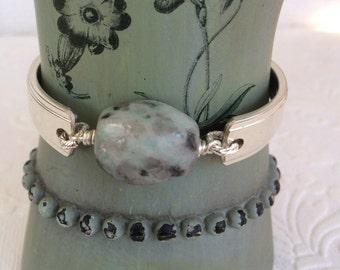 Sesame Jasper Spoon Handle Bracelet