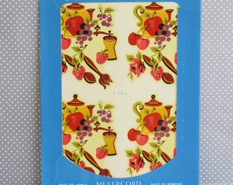 Vintage Meyercord Decal - Teapot Fruit and Flowers - NOS