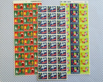 300 Vintage Tuberculosis Christmas Stamps or Seals