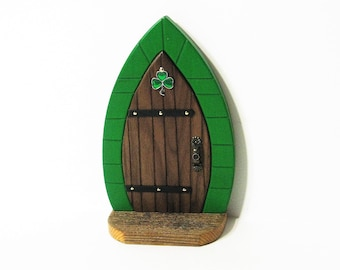 Irish Fairy Door Made Of Three Woods
