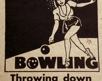 Throwing Down Like a Boss - Bowling Poster
