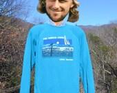 vintage 80s sweatshirt NORTH FORK long island new york raglan Medium Large soft