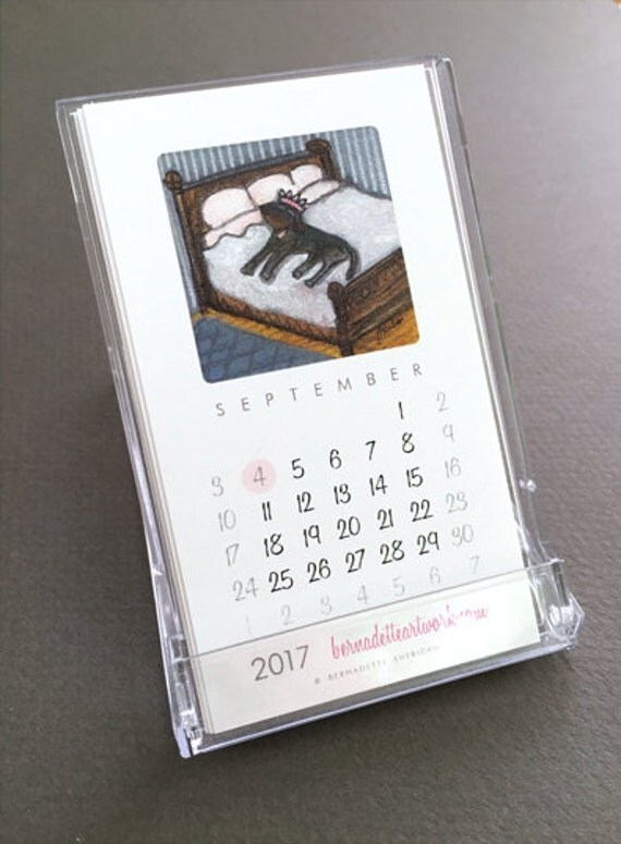 sale 2017 mini desk calendar with stand business card