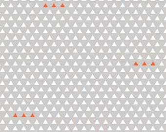 Tribal fabric, Aztec fabric, Boho fabric, Geometric fabric, Four Corners fabric by Riley Blake, Corners Triangle in Gray, Choose The Cut,