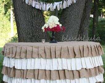 Burlap Table Cloth Etsy