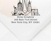 Square New York, NY Custom Return Address Stamp