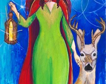 Elen of the Ways, Celtic Goddess Art