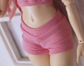 Doll BJD dolfie Minifee clothes Light pink Shorts by MonstroDesigns Ready to Ship