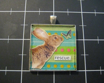 Rabbit Rescue Pendant, 50% goes to the current focus charity
