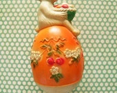 Fabulous Vintage Viscoloid Celluloid Easter Bunny Rabbit Baby Rattle