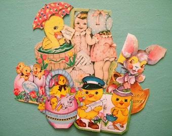 6 Vintage Easter Cards Crafter's Lot