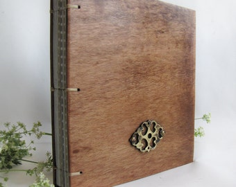Diary Notebook Unique wood Reclaimed