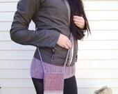 "Cell Phone Purse Crossbody Bag Mobile Phone Pouch Small Cross Body Handbag Hip Bag - ""Blauwe Rits"" - Inside Zippered Pocket - Fashion Bag"