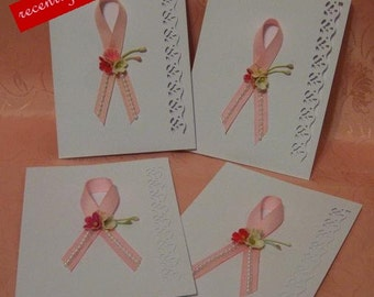 """On Sale..  Recently reduced Pink Ribbon """"Blank"""" Note Cards for a Cause"""