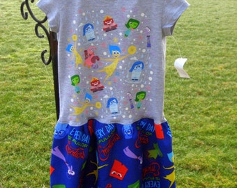 Girls Inside out Tshirt dress is size 2/3, Ready to ship