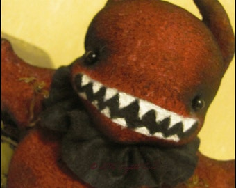 Halloween monster devil bat  spooky Doll Whimsical creepy cute harvest Primitive country decor cottage chic Farm Quirky hafair ofg team
