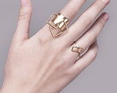 Vicky Ring, Gold Statement Ring, Contemporary Ring, Geometric Gold Ring, Minimalist Gold Ring, Gold Cocktail Ring, Architectural Ring