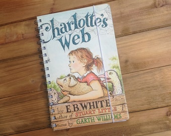 Charlotte's Web Recycled Notebook / Charlotte's  Web Book Journal