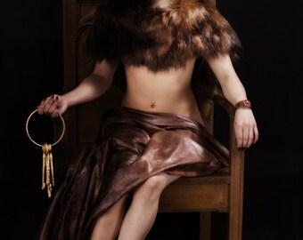 Mythological Portrait Goddess Photography Norse Hel Underworld on Aluminum