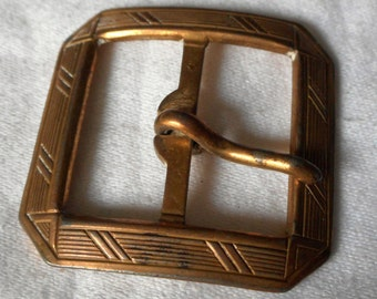 VINTAGE Line Design Metal Belt Buckle