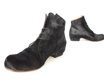 Free Shipping! Naked Slice Boot in Black Pony