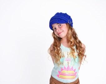 Toddler Girl Hat Toddler Boy Hat 2T to 4T Cobalt Blue Toddler Hat Toddler Girl Beanie Toddler Boy Beanie Toddler Beanie Crochet Winter Hat