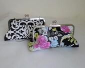 THE BLACK DAMASK bridesmaid clutches gifts wedding personalized Add on Photo lining mother of the bride groom