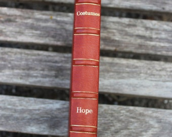 VINTAGE Book - Costumes of the Greeks and Romans - Thomas Hope - Red leather bound book